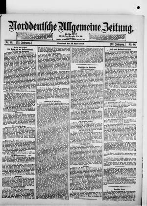 Norddeutsche allgemeine Zeitung vom 12.04.1913