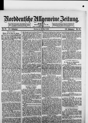 Norddeutsche allgemeine Zeitung vom 15.04.1913