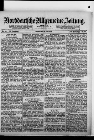 Norddeutsche allgemeine Zeitung vom 16.04.1913