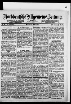 Norddeutsche allgemeine Zeitung vom 17.04.1913