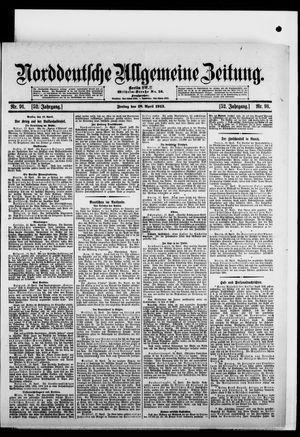 Norddeutsche allgemeine Zeitung vom 18.04.1913