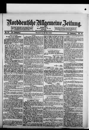 Norddeutsche allgemeine Zeitung vom 19.04.1913