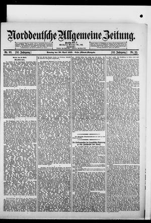 Norddeutsche allgemeine Zeitung vom 20.04.1913