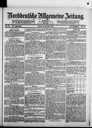Norddeutsche allgemeine Zeitung vom 22.04.1913