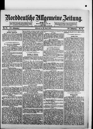 Norddeutsche allgemeine Zeitung on Apr 23, 1913