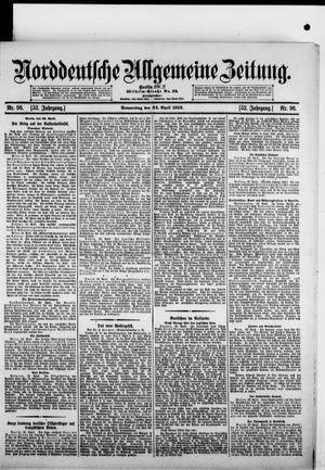 Norddeutsche allgemeine Zeitung vom 24.04.1913