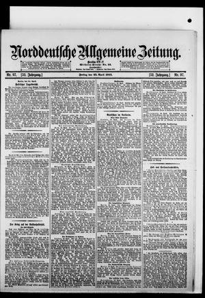 Norddeutsche allgemeine Zeitung vom 25.04.1913