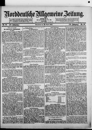 Norddeutsche allgemeine Zeitung vom 26.04.1913
