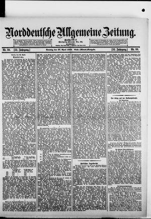 Norddeutsche allgemeine Zeitung vom 27.04.1913