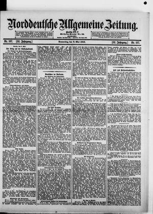 Norddeutsche allgemeine Zeitung vom 08.05.1913