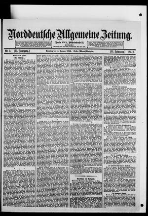 Norddeutsche allgemeine Zeitung vom 04.01.1914