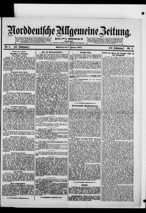 Norddeutsche allgemeine Zeitung vom 07.01.1914