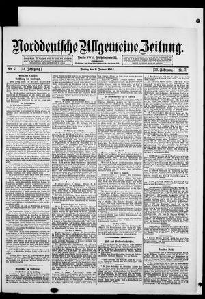 Norddeutsche allgemeine Zeitung vom 09.01.1914