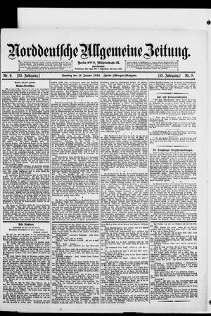 Norddeutsche allgemeine Zeitung vom 11.01.1914