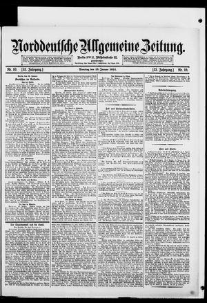 Norddeutsche allgemeine Zeitung vom 13.01.1914