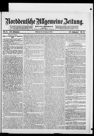 Norddeutsche allgemeine Zeitung on Jan 14, 1914