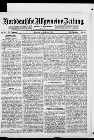Norddeutsche allgemeine Zeitung vom 15.01.1914