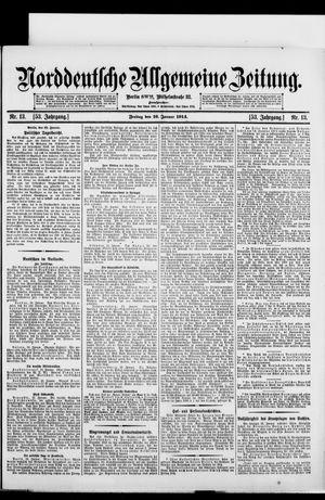 Norddeutsche allgemeine Zeitung vom 16.01.1914