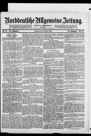 Norddeutsche allgemeine Zeitung vom 17.01.1914