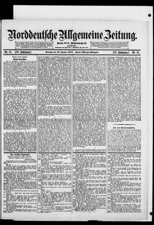 Norddeutsche allgemeine Zeitung vom 18.01.1914