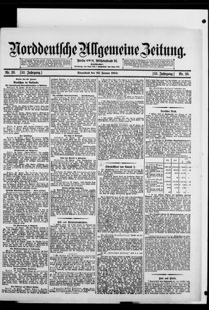 Norddeutsche allgemeine Zeitung vom 24.01.1914