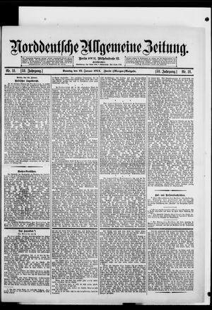 Norddeutsche allgemeine Zeitung vom 25.01.1914