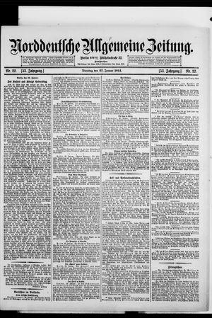 Norddeutsche allgemeine Zeitung vom 27.01.1914