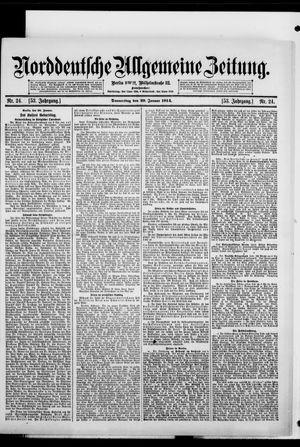Norddeutsche allgemeine Zeitung on Jan 29, 1914