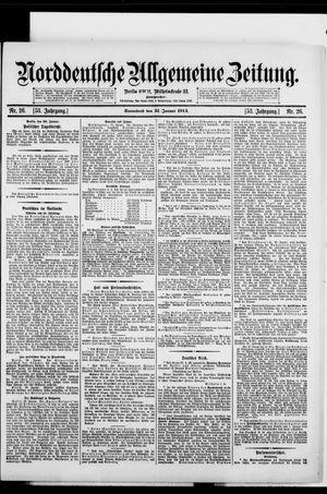 Norddeutsche allgemeine Zeitung vom 31.01.1914