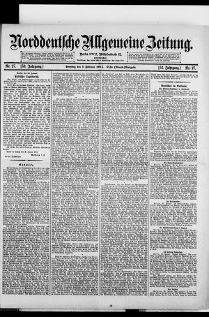 Norddeutsche allgemeine Zeitung vom 01.02.1914