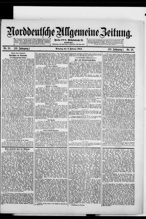 Norddeutsche allgemeine Zeitung vom 03.02.1914