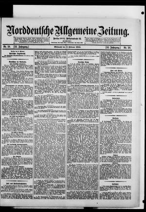 Norddeutsche allgemeine Zeitung on Feb 4, 1914