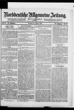 Norddeutsche allgemeine Zeitung vom 07.02.1914