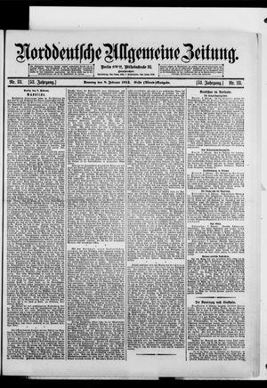 Norddeutsche allgemeine Zeitung vom 08.02.1914