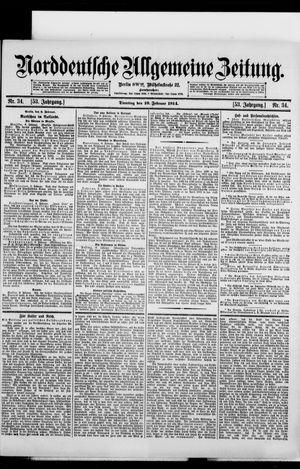 Norddeutsche allgemeine Zeitung vom 10.02.1914