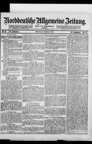 Norddeutsche allgemeine Zeitung vom 11.02.1914
