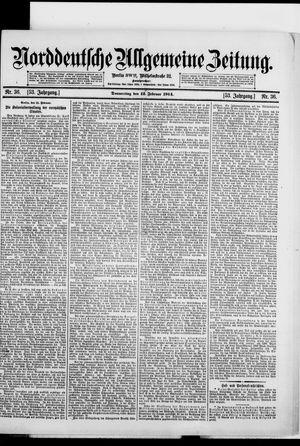 Norddeutsche allgemeine Zeitung vom 12.02.1914