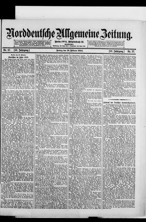 Norddeutsche allgemeine Zeitung vom 13.02.1914