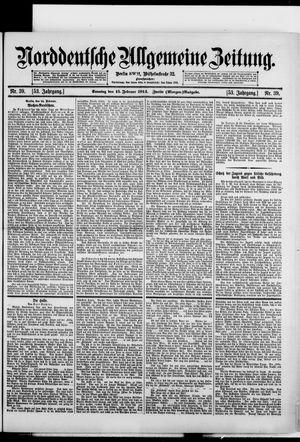 Norddeutsche allgemeine Zeitung vom 15.02.1914