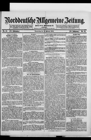 Norddeutsche allgemeine Zeitung vom 19.02.1914