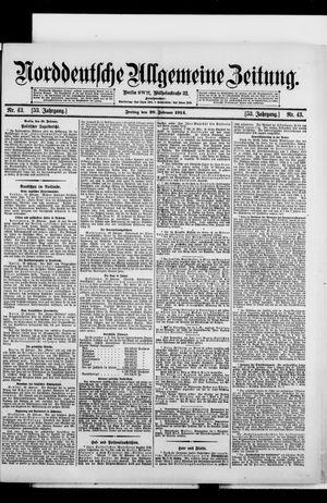 Norddeutsche allgemeine Zeitung vom 20.02.1914