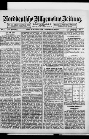 Norddeutsche allgemeine Zeitung vom 22.02.1914