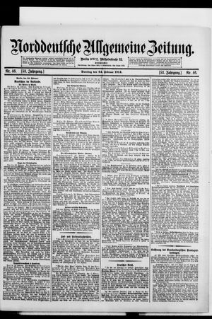 Norddeutsche allgemeine Zeitung vom 24.02.1914
