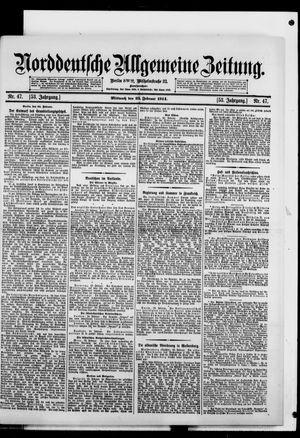 Norddeutsche allgemeine Zeitung vom 25.02.1914