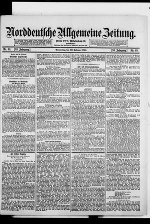Norddeutsche allgemeine Zeitung vom 26.02.1914