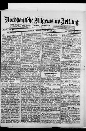 Norddeutsche allgemeine Zeitung vom 01.03.1914