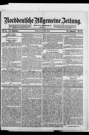 Norddeutsche allgemeine Zeitung vom 03.03.1914