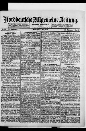 Norddeutsche allgemeine Zeitung vom 04.03.1914