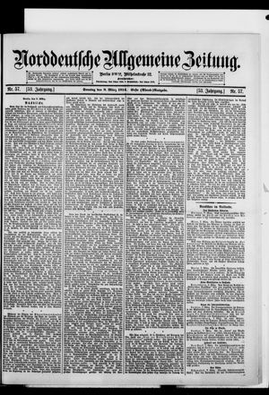 Norddeutsche allgemeine Zeitung on Mar 8, 1914