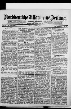 Norddeutsche allgemeine Zeitung vom 10.03.1914